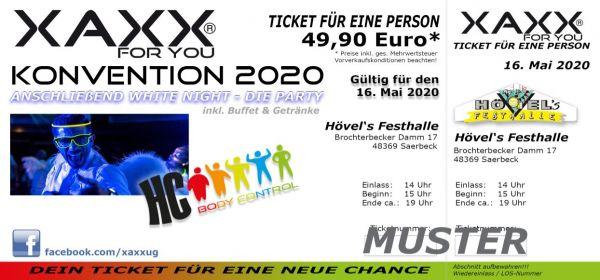 Ticket XAXX-KONVENTION 16. Mai 2020